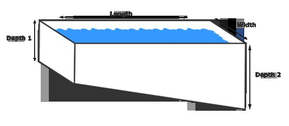 Pool square meter area calculator - Length of swimming pool in meters ...